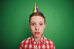 Amazed child. Little boy with amazed or confused expression looking at camera Royalty Free Stock Photos