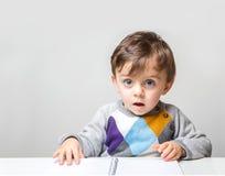 Amazed child stock images