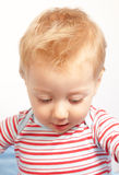 Amazed expression. Of a happy one year old baby boy Royalty Free Stock Photos