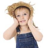 Amazed Farm Girl Stock Photography