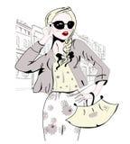 Amazed Fashion Girl In Sunglasses Stock Photos