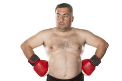 Amazed fat man Royalty Free Stock Photography