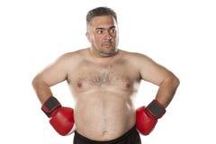 Amazed fat man Stock Images