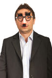 Amazed funny business man Royalty Free Stock Images