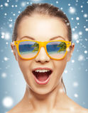 Amazed girl in shades Royalty Free Stock Images