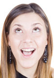 Amazed happy girl Royalty Free Stock Image