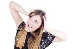 Amazed happy woman Royalty Free Stock Images