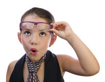 Amazed kid with curious face expression Stock Photography