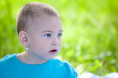 Amazed little girl Royalty Free Stock Photo