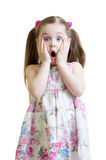 Amazed little girl closeup portrait Royalty Free Stock Image