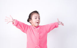 Amazed little kid very excited Royalty Free Stock Images