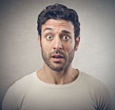 Astonished man Royalty Free Stock Photo