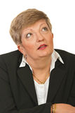 Amazed mature executive woman Royalty Free Stock Photo