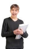 Amazed student Stock Images