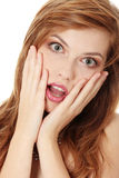 Amazed teen girl Stock Images