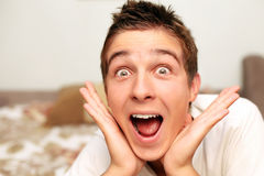Amazed Teenager Royalty Free Stock Image