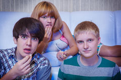 Amazed teenagers Royalty Free Stock Photos