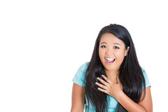 An amazed young woman Royalty Free Stock Image