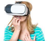 Woman with VR glasses Stock Image