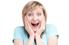 Amazement expression Stock Photos