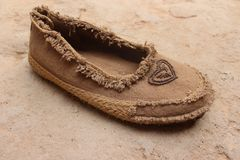 Amazigh Female shoes, are traditional brown and gorgeous royalty free stock image