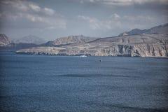 Amazinc coastal scenery near Khasab, in Musandam peninsula, Oman. Stock Images