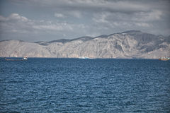 Amazinc coastal scenery near Khasab, in Musandam peninsula, Oman. Stock Images