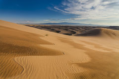 Amazing abstract patterns on the sand of the Gobi desert. Royalty Free Stock Photo