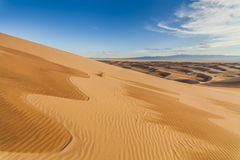 Amazing abstract patterns on the sand of the Gobi desert. Royalty Free Stock Images