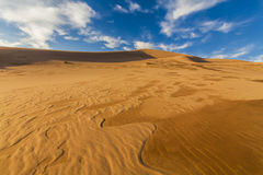Amazing abstract patterns on the sand of the Gobi desert. Royalty Free Stock Photos