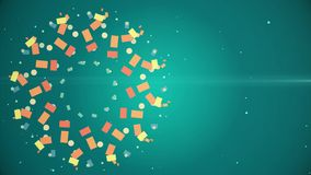Amazing Abstract Round Multi Color Pattern With Twelve Ultra Complex Structure Motion Background stock video