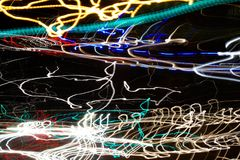 Amazing abstract street lights wallpapers. Freestyle and handmade street photography Stock Images