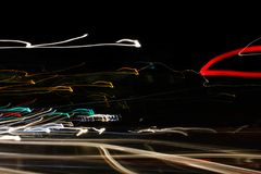 Amazing abstract street lights wallpapers. Freestyle and handmade street photography Stock Photos