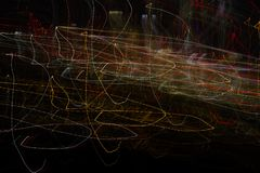 Amazing abstract street lights wallpapers. Freestyle and handmade street photography Stock Photo