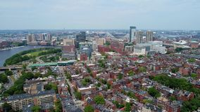 Amazing aerial Boston stock video footage