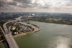 Amazing aerial city views from Singapore. Stock Image