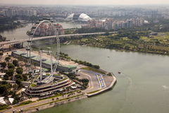 Amazing aerial city views from Singapore. Royalty Free Stock Images