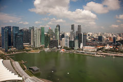 Amazing aerial city views from Singapore. Amazing aerial city views from Singapore stock photography