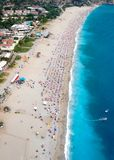 Amazing aerial view of Blue Lagoon in Oludeniz Royalty Free Stock Photos
