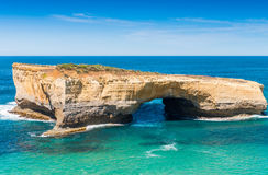 Amazing aerial view of limestone rocks above the ocean, Great Oc Stock Images