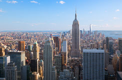 Amazing aerial view of Manhattan & Brooklyn Royalty Free Stock Photo