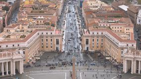 Amazing aerial view over Vatican city in Rome. Videoclip stock footage