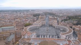 Amazing aerial view over Vatican city in Rome. Videoclip stock video footage