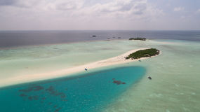 Amazing aerial view on the sand bank Stock Image