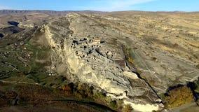 Amazing aerial view of Uplistsikhe. Georgia stock video