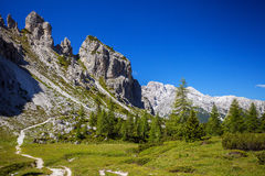 Amazing Alp Mountains Royalty Free Stock Images