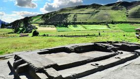 Ancient Inca site of Coyoctor in Cañari province in Ecuador. 4k animation time lapse video