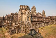 The amazing of Angkor Wat, Cambodia royalty free stock photo