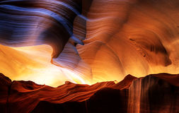 Amazing Antelope Canyon - HDR. Sandstone carved by water over the years. Amazing HDR shoots of that famous american tourist spot Stock Photo