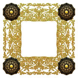 Amazing antique carved gold frame Royalty Free Stock Photo